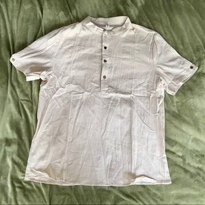 NWOT Beige Casual Button up